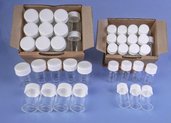 Mikroflaschen aus Klarglas