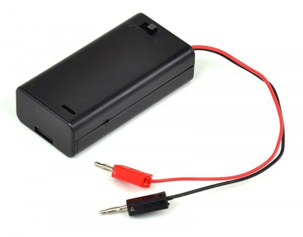 Batteriefach 3 V, mit 2-mm-Steckern