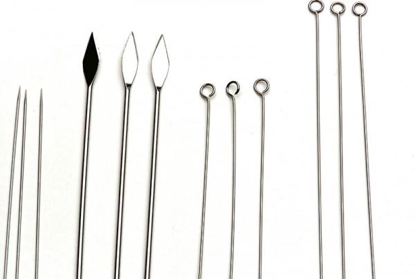Einsetzbare Nadeln : Präpariernadel gebogen, Pack á 10 Stück