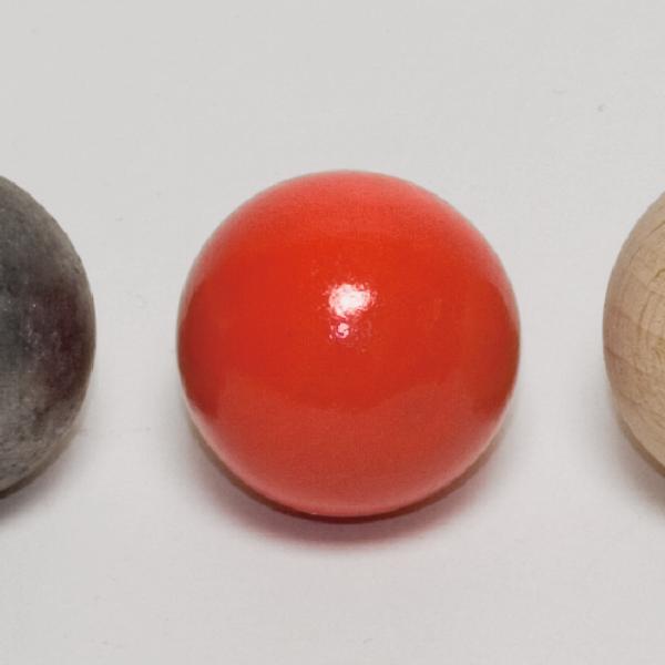 Holzkugel, rot, 25 mm Ø