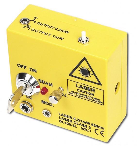 Laser 0,2/1,0 mW, linear polarisiert, modulierbar, magnethaftend