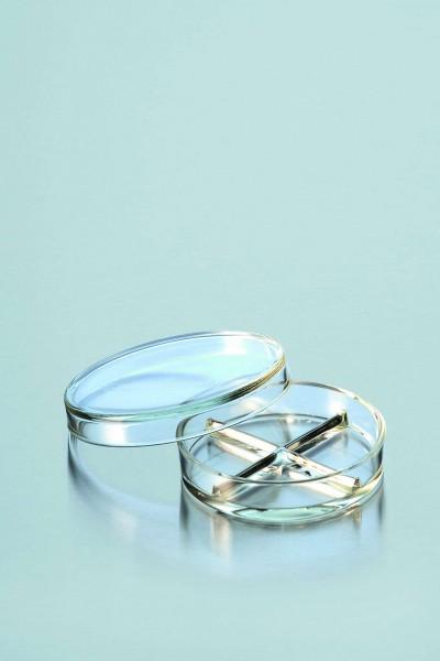 Petrischale aus DURAN-Glas mit Teilung