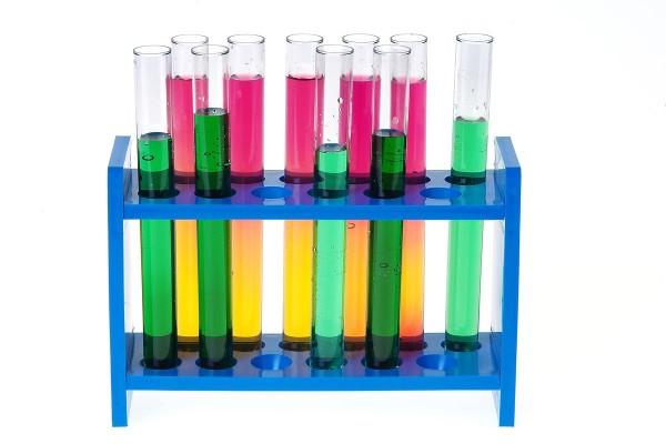 Reagenzglasgestell aus Kunststoff