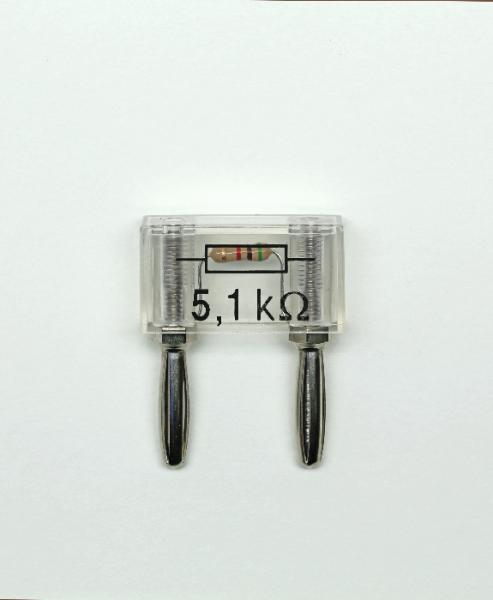 Widerstand auf Steckelement, 5,1 k?/0,25 W