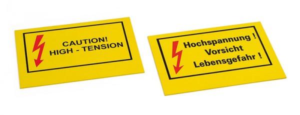 """Warnschild """"Hochspannung"""",""""Caution – High Tension"""""""