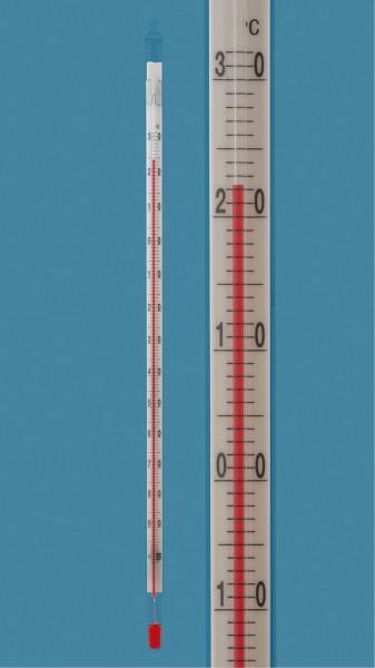 Kältethermometer, -110 +30°C, Toluol-Füllung