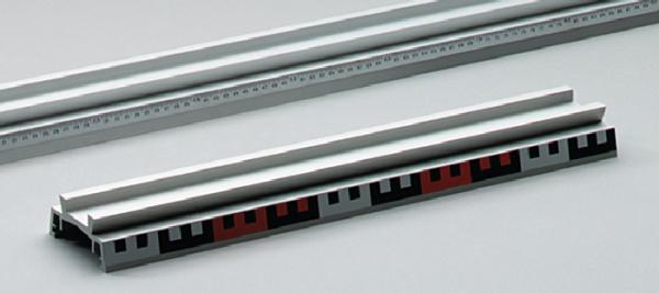 Profilschiene, Aluminium, 500 mm, mit Skala