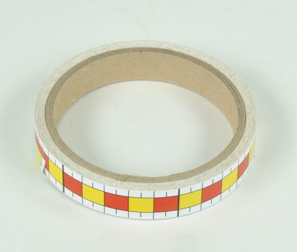 Maßband, weiß, B=16 mm