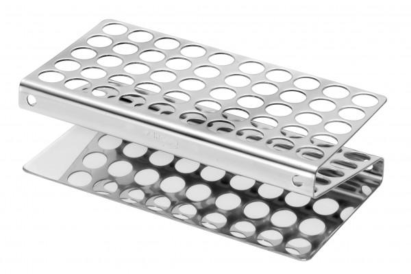 Reagenzglasgestell aus Edelstahl