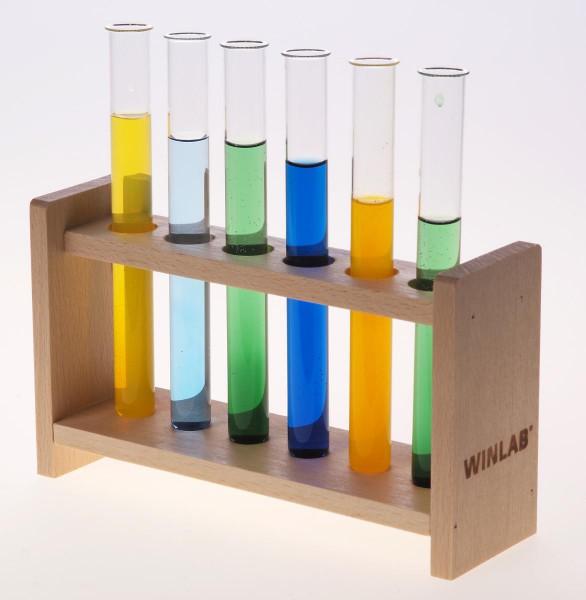 Reagenzglasgestell aus Holz