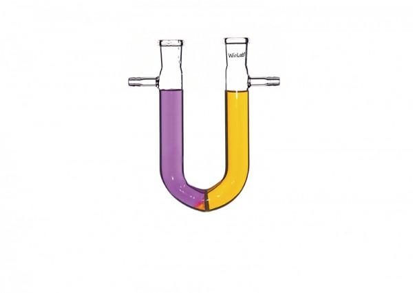 U-Rohr mit Schlauchstutzen und Fritte