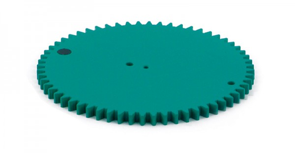 Zahnrad 60 Zähne, grün, D=124 mm