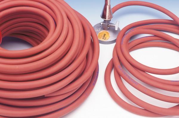 Sicherheitsschlauch für Gasbrenner nach DIN, 10x2mm, 1m lang