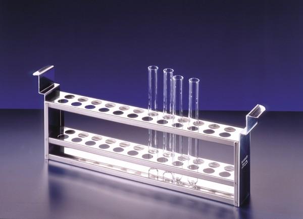 Reagenzglasgestell für Wasserbad WB 7, mit 56 Bohrungen