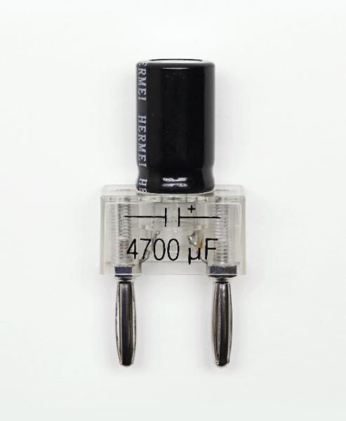 Elektrolytkondensator auf Steckelement, 4700 µF