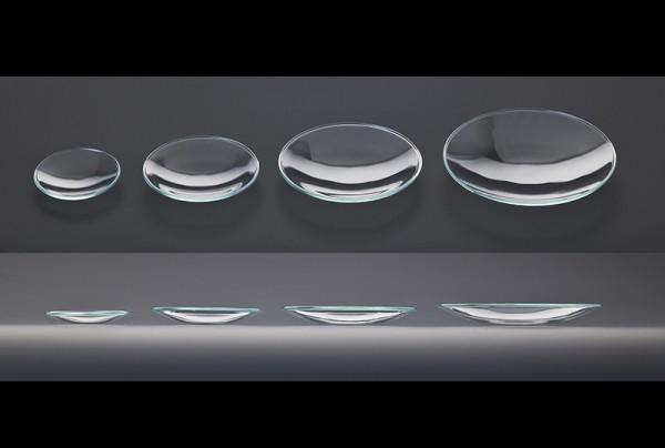 Uhrglas aus Kalk-Soda Glas