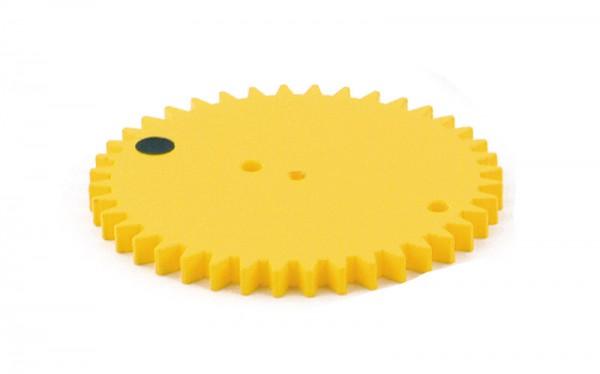 Zahnrad 40 Zähne, gelb, D=84 mm