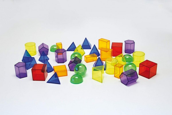 Transparente geometrische Formen