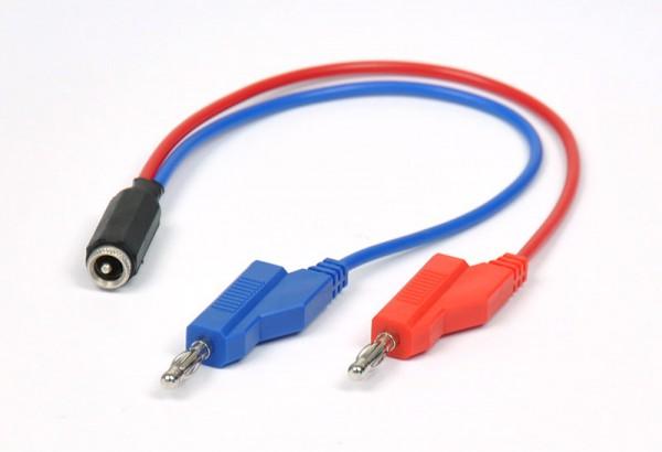Adapterkabel DC -hohl auf 4 mm-Stecker