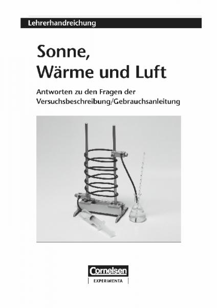 """Lehrerhandreichung """"Sonne, Wärme und Luft"""""""