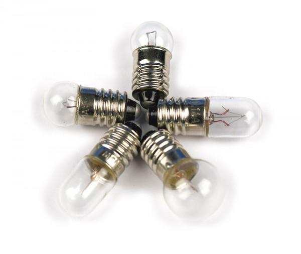 Glühlampe 6 V/0,5 A, E10, Satz v. 5 Stück