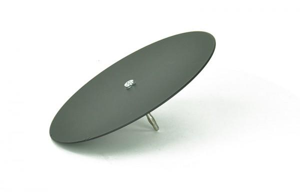 Klangfigurenplatte mit Stecker, rund