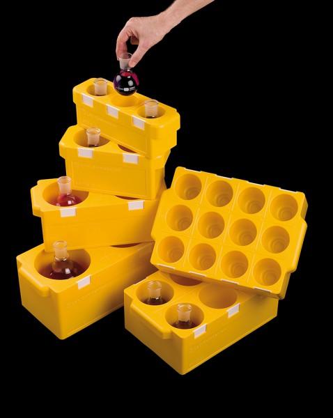 Rundboden-Träger-Gestelle Winlab, für Rundkolben 250-500 ml, für 2 Kolben