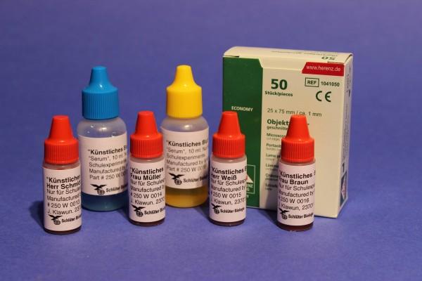 Grundkit: Künstliches Blut zur Blutgruppenbestimmung ohne Rh (WARD´S)