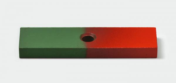 Flachstabmagnet, AlNiCo, mit Bohrung