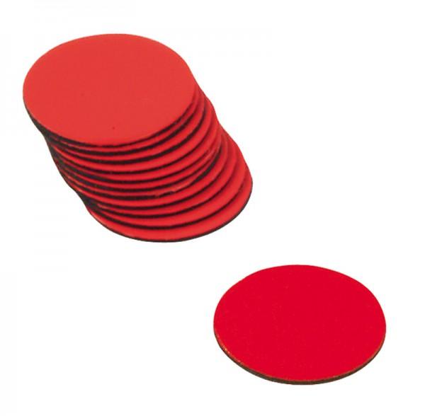 Haftscheiben, rot, D=16 mm, Satz v. 12 Stück