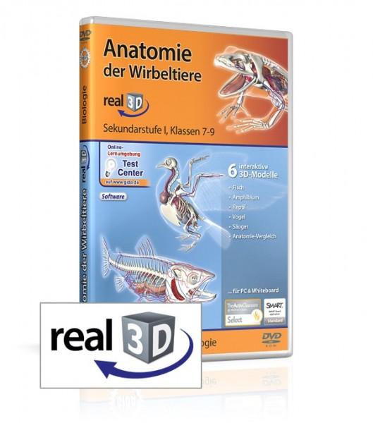 Anatomie der Wirbeltiere - real3D Software