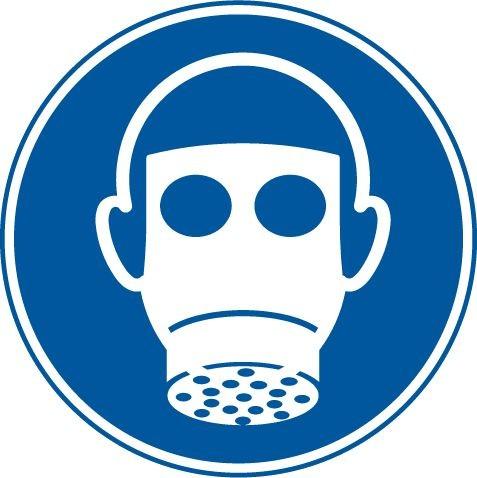 Gebotszeichen Ø 200 mm Atemschutz tragen