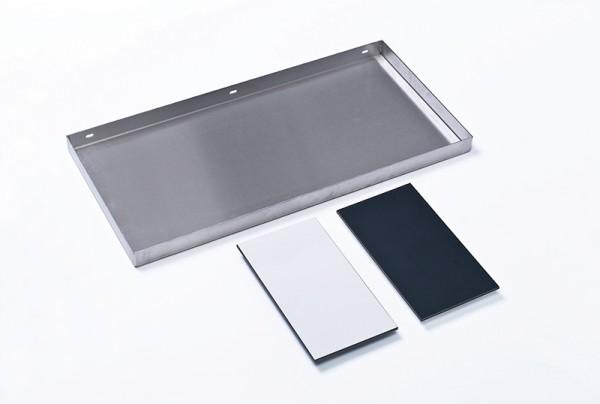 Experimentier-Tablett aus Edeltahl