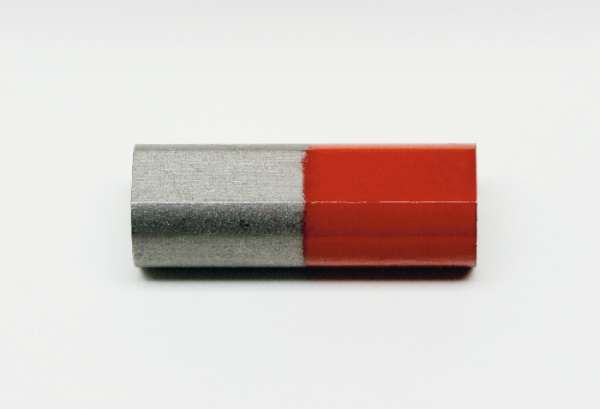 Stabmagnet, 23 mm, Nordpol rot