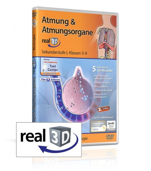 Atmung & Atmungsorgane - real3D Software