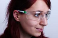Schutzbrille mit Panoramascheibe nach DIN EN 166