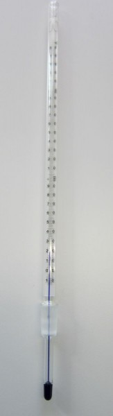 Destillations - Thermometer mit NS 14, 0....+250°C