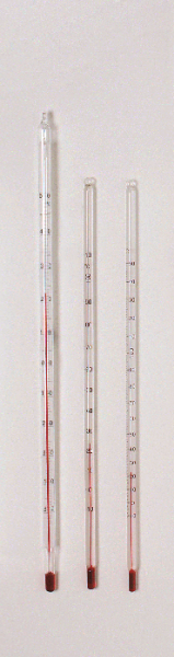 Thermometer, –10/+150 °C (rote Füllung)