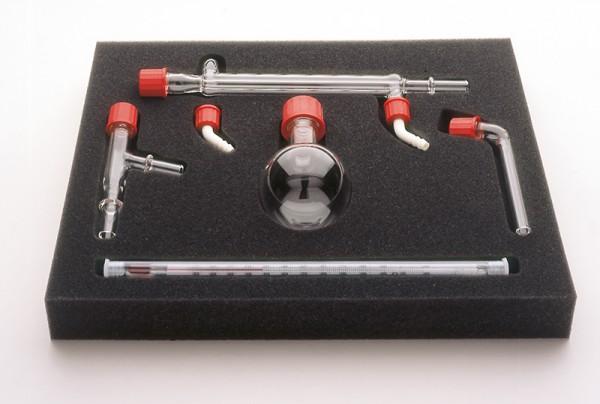 Destillieraufsatz GL 18 sowie 2x Rohransatz