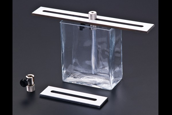 Glastrog für Elektrolyseversuche