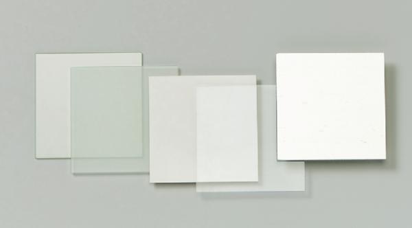Glasplatte, matt, 90/90 mm