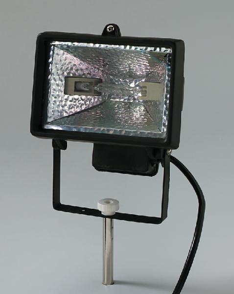 Reflektorstrahler, Halogen, max. 150 W, mit Stab