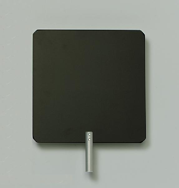 Schirm auf Stab, Metall, weiß/schwarz
