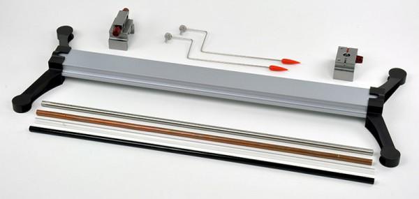 Gerätesatz für Längenausdehnung, Stativaufbau