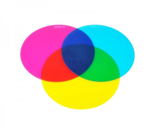 Farbfilterscheibe, subtraktiv, Satz von 3 Stück