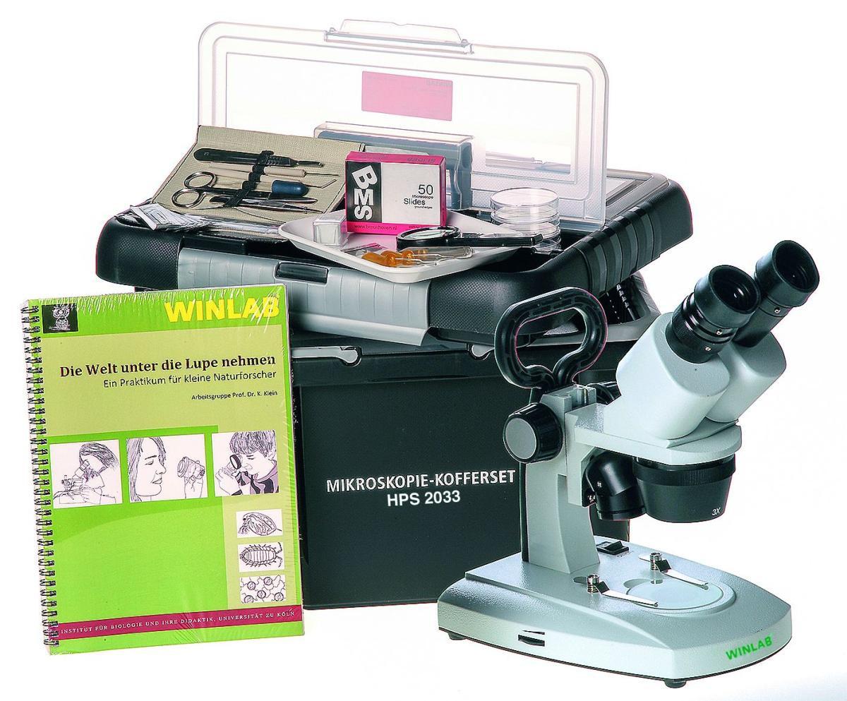 Vintage mikroskop revue klein aus metall eur