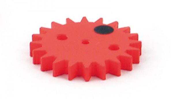 Zahnrad 20 Zähne, rot, D=44 mm