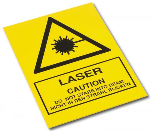 """Warnschild """"Laser"""""""