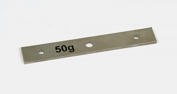 Zusatzmasse 50 g, L=124 mm