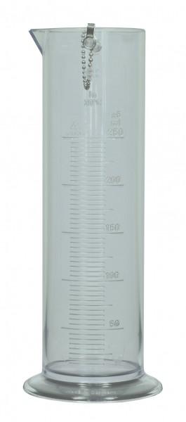 Messzylinder Kunststoff, mit Aufhängung, 250 ml